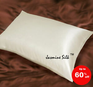 Jasmine Silk Simple Soie Pure Housse D'Oreiller Soie Ivoire