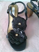 """Isaac Mizrahi LIVE Womens Shoes 'FIONA"""" Sandal Size 7 1/2 W Black"""