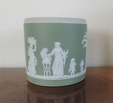 Antique Porcelain Cache Pot Planter Wedgwood Jasperware Sage Green 19th c. Vase