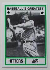 1982 TCMA BASEBALL'S GREATEST HITTERS SAM RICE WASHINGTON SENATORS