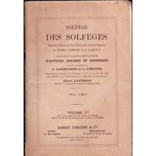 SOLFEGE des SOLFEGES pour SOPRANO par LEMOINE et CARULLI Leçon LAVIGNAC Volume 1