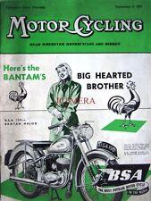 Sep 9 1954 B.S.A '150cc Bantam Major' Motor Cycle ADVERT - Magazine Cover Print