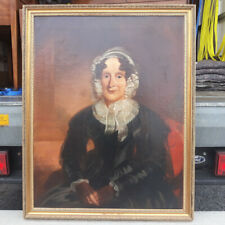More details for modern victorian school oil on canvas portrait painting of a 19th century lady