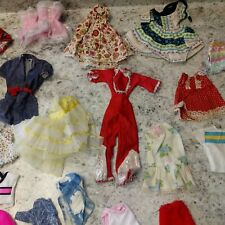 Vintage Retro 1960s Barbie Doll Mixed Clothing Lot Used some hand made pantsuit