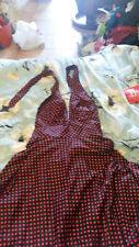 robe marilyn noire à pois rouges