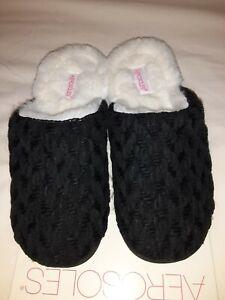 Aerosoles Black Knit Memory Foam Slippers Womens Sz Small 5 6 Nwt