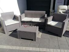salotto da esterno giardino set rattan bar COLORADO NEBRASKA poly rattan pub bar