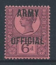 1896-1901 GB 6d PURPLE/ROSE-RED ARMY OFFICIAL FINE MINT MNH SGO45