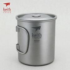 Keith Titanium Ti3204 Single-Wall Mug - 15.2 fl oz (Shipped from USA)