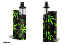 Skin Wrap For Wismec Reuleaux RX75 Decals 75 Watt Vapor Box Stickers WEEDS BLACK
