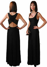 Elegantes Maxikleid Ball Kleid Bodycon Abendkleid Cuts Tüll Schwarz 36 38 40