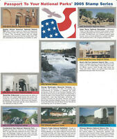 Passport To Your National Parks 2005 Stamp Series Self Adhesive Partial Set of 8