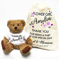 Wedding Teddy Bear Gift | Personalised | Flower Girl, Bridesmaid Little Stars