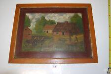 T1 Peinture signée Lemaine Décor paysannier