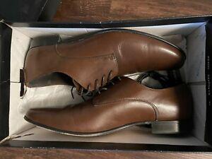 Banana Republic Mens Drake Oxford Shoes 10.5 Brown Gap HAAN KENNETH