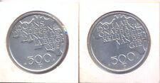 BELGIQUE BELGIEN BELGIUM 2 x 500 F Ag COM. UNC 1980 150 ans INDEPENDANCE NL + FR