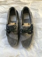 Sperry Top Sider Men's Two-Eyelet Boat Shoe Grey/Navy Size 10 0594