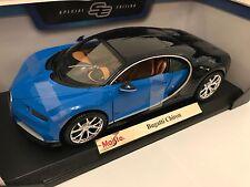 1:18 Maisto escala Bugatti CHIRON-Azul-Edición Especial Coche Modelo Diecast