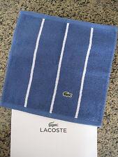 "NEW Lacoste Croc Golf Hand Towels 13 1/2"" x 13 1/2"" / 100% Cotton Sport Striped"