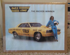 VINTAGE RACING CHEVROLET HOT ROD POSTER BAR'S LEAKS VERY RARE MAN CAVE