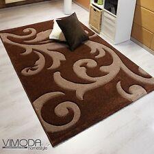 Alfombra moderna de diseño salón.motivo floral corte de contorno manual