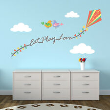 Eat Play Love Mural Wall Sticker Home Interior Decoration