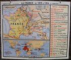 Carte historique scolaire Hatier N°63 Histoire de France no Armand Colin Vidal
