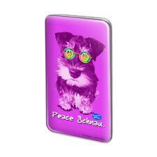 Peace Schnau Schnauzer Puppy Dog Retro Rectangle Lapel Pin Tie Tack