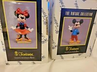 Disney Fontanini Vintage Collection Mickey & Minnie Mouse Rare New
