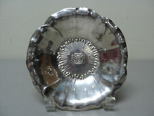 "Antique Shreve & Co. Sterling Silver Comm. Bowl/Dish ""Knights Templar"" Insignia"