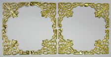8 Large Decorative Gold Metal Corner Embellishments Card Making & Scrapbooking