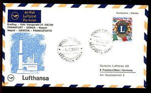 Italy 1968 First Flight Cover, FFC Genova - Frankfurt #C4684