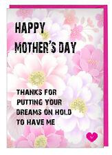 Divertido Descarado Día de la Madre Tarjeta para Mamá / Step Mum - Poner Su