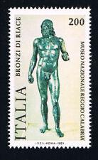 ITALIA IL FRANCOBOLLO BRONZI DI RIACE 1981 nuovo**