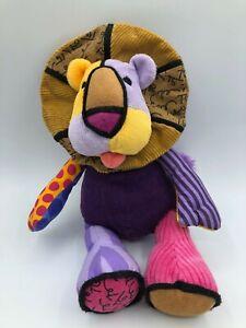 Small Romero Britto Popplush Enesco Leonardo The Lion Plush Stuffed Toy Animal