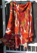 Handkerchief Hem Skirt,  Fall Colors,  BELIZA Women's Size 16