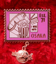 Hard Rock Cafe Pin OSAKA UCW - Retro Stamp I Was Here Series logo dangle postage