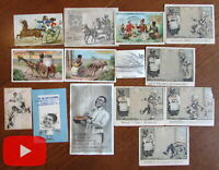 African American racism 19th century lot x 14 trade cards Black Americana