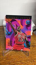 1995-96 Michael Jordan NBA Hoops Number Crunchers Insert #1 of 25 HOF