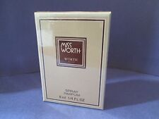 Miss Worth Spray Pure Perfume 8 ml 1/4 oz Vintage Sealed Box Parfum RARE