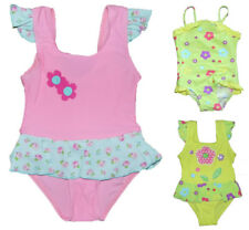 Baby Girls Swimming Costume  18-24 Months and 2-3 Years Lime and Lemon Floral