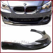 For 04-10 BMW E60 535i 550i M-Sport Bumper Carbon Fiber H Look Front Spoiler Lip