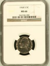 1968 S Jefferson Nickel NGC MS 66