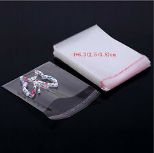 New 100pcs Clear Transparent Self-adhesive OPP Seal Plastic Jewelry Bag Package