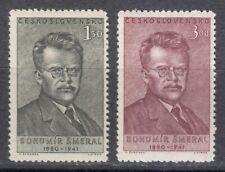 Czechoslovakia 1951 MNH Mi 669-670 Sc 464-465 Bohumir Smeral,politician **