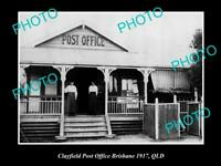 OLD LARGE HISTORIC PHOTO OF CLAYFIELD, BRISBANE QLD VIEW OF THE POST OFFICE 1917