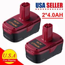 2 Pack 19.2V 4.0Ah Lithium C3 Diehard Battery For Craftsman 11375 Pp2025 Pp2030