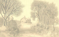 Ronald A. Broad - Signed 1980 Graphite Drawing, Landscape in Sparshoct