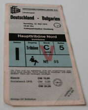 Ticket for collectors * West Germany - Bulgaria 1973 in Hamburg