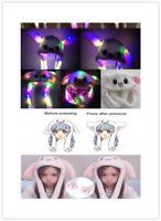Cute Glowing Pinching Ear Hat Plush Rabbit Hat Moving Airbag Bunny Cap Gift US